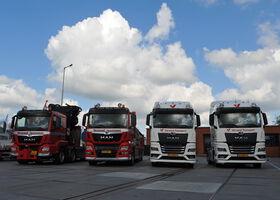 Vier nieuwe MAN's voor Verwaal Transport
